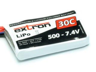LiPo Akku Extron X2 500 - 7,4V (30C | 60C)