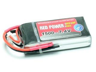 LiPo Akku RED POWER SLP 1500 - 7,4V