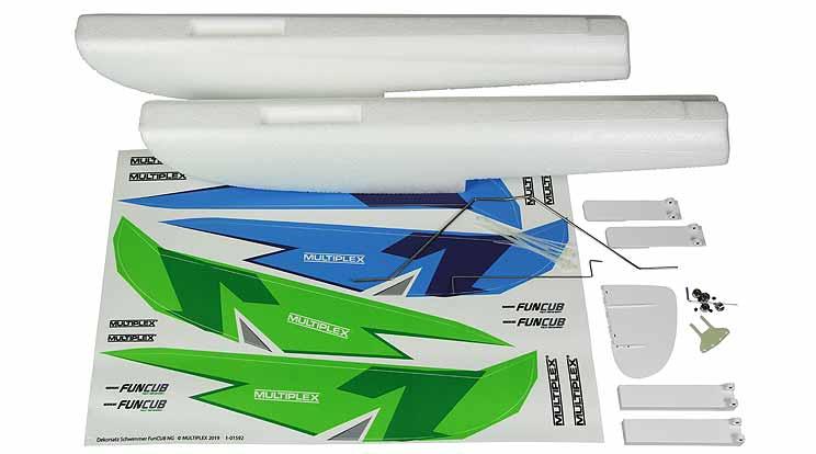 Multiplex Schwimmersatz FunCub NG grün/blau