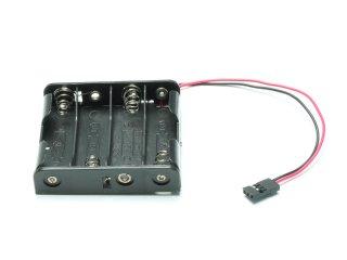 Batterie Box 4 x AA (flach)