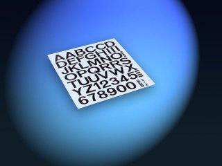 Aufkleber Zahlen / Buchstaben 50mm (schwarz)