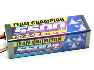 LiPo Akku Team Champion 5500 - 11,1V | 55C | Deans T