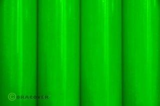 Bügelfolie Oracover fluoresz. grün (2 Meter)