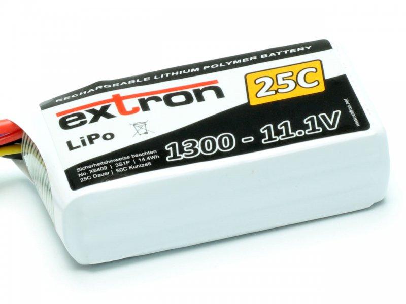 LiPo Akku Extron X2 1300 - 11,1V (25C | 50C)
