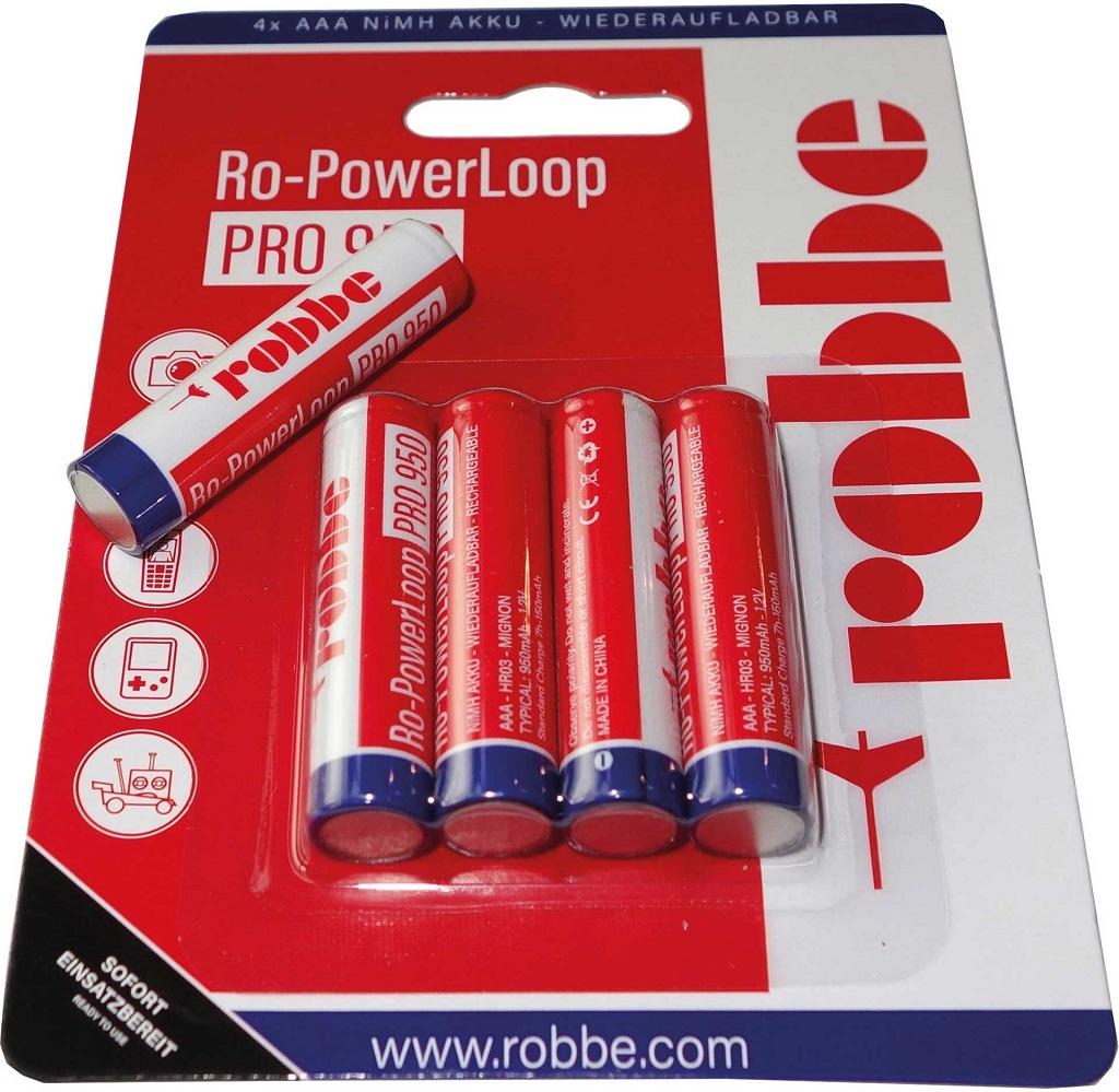 Robbe Modellsport RO-POWER LOOP MICRO AAA 950 MAH 1,2 VOLT 4 ST. BLISTER