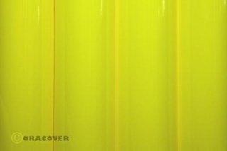Bügelfolie Oracover fluoresz. gelb (2 Meter)